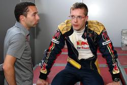 Sébastien Bourdais, Scuderia Toro Rosso with his manager Nicolas Todt