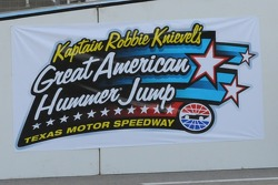 Robbie Knievel made a jump over 25 Hummers before the race