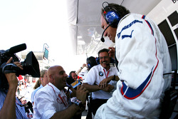 Dr. Mario Theissen, BMW Sauber F1 Team, BMW Motorsport Director and Willy Rampf, BMW-Sauber, Technical Director