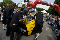 Corvette Racing Corvette C6.R enters scrutineering