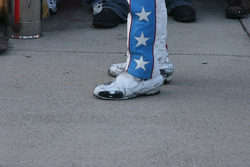 Robbie Kneivel's jump shoes