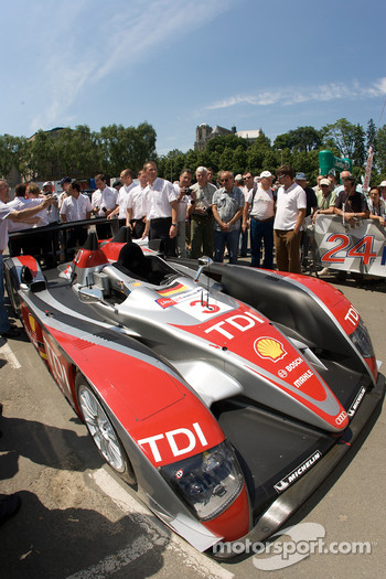 #3 Audi Sport Team Joest Audi R10 at scrutineering