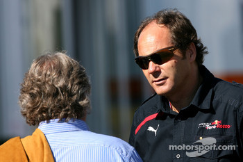 Gerhard Berger, Scuderia Toro Rosso, 50% Team Co Owner and Keke Rosberg