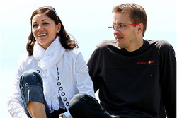 Sébastien Bourdais, Scuderia Toro Rosso with his wife Claire