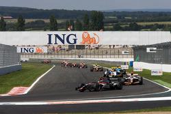 Pace lap: Jerome D'Ambrosio