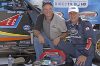 Victory lane: race winner Chet Fillip and brother Corey Fillip
