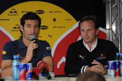 Mark Webber, Red Bull Racing, confirms his place at Red Bull for 2009