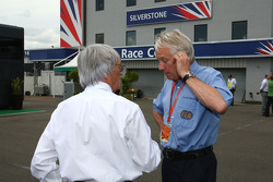 Bernie Ecclestone, President and CEO of Formula One Management with Charlie Whiting, FIA Safty delegate, Race director & offical starter