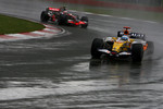Fernando Alonso, Renault F1 Team, R28 and Heikki Kovalainen, McLaren Mercedes, MP4-23