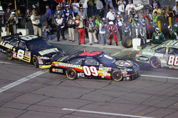 Mark Martin and Sterling Marlin touch on pit road