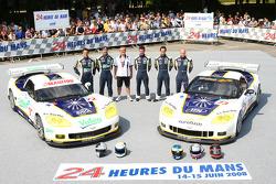 #72 Luc Alphand Aventures Corvette C6.R: Luc Alphand, Jérôme Policand, Guillaume Moreau, #73 Luc Alphand Aventures Corvette C6.R: Patrice Goueslard, Jean-Luc Blanchemain, Laurent Pasquali