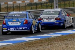 Nicola Larini, Chevrolet, Chevrole Lacetti and Stefano d'Aste, Proteam Motorsport, BMW 320si