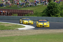#3 Corvette Racing Chevrolet Corvette C6R: Johnny O'Connell, Jan Magnussen, #4 Corvette Racing Chevrolet Corvette C6R: Olivier Beretta, Oliver Gavin