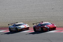 #8 Rossocorsa - Pellin Racing Ferrari 458: Dario Caso and #84 Octane 126 Ferrari 458: Bjorn Grossmann