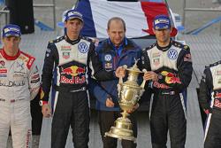 Podium: winners Sébastien Ogier and Julien Ingrassia, Volkswagen Motorsport