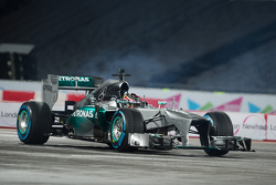 Pascal Wehrlein in the Mercedes AMG F1