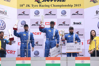 Touring Photos - Podium: winner Sailesh Bolisetti, second place Anindith Reddy, third place Karminder Singh