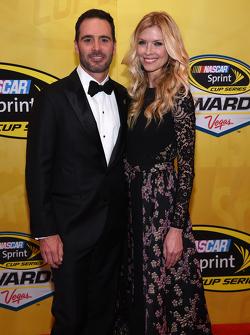 Jimmie Johnson, Hendrick Motorsports Chevrolet with wife Chandra
