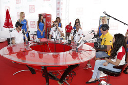 Mehdi Bennani, Citroën C-Elysee WTCC, Sébastien Loeb Racing, Rob Huff, Lada Vesta WTCC, Lada Sport Rosneft and Tiago Monteiro, Honda Civic WTCC, Honda Racing Team JAS