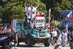 Truck category winners #501 Iveco: Gerard de Rooy, Moises Torrallardona, Darek Rodewald