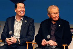 Kyle Busch, Joe Gibbs Racing Toyota with Joe Gibbs