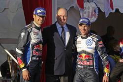 Winners Sébastien Ogier, Julien Ingrassia, Volkswagen Motorsport with HSH Prince Albert of Monaco