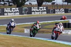 Nicky Hayden, Honda WSBK Team, Tom Sykes, Kawasaki Racing Team and Sylvain Guintoli, Pata Yamaha