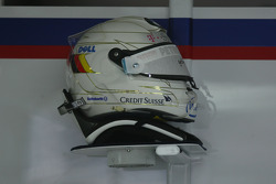 Spare helmet of Nick Heidfeld, BMW Sauber F1 Team