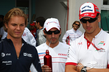 Nico Rosberg, WilliamsF1 Team, Timo Glock, Toyota F1 Team and Adrian Sutil, Force India F1 Team