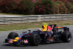 Mark Webber, Red Bull Racing, on slick tyres