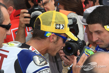 Race winner Valentino Rossi