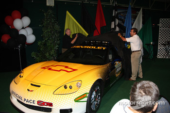 IMS President and COO Joie Chitwood helped to unveil the Corvette Z06 Pace Car for the 2008 Allstate 400 at the Brickyard