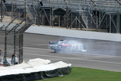 Sam Hornish Jr. spins in the short chute