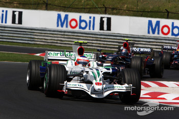 Rubens Barrichello, Honda Racing F1 Team, leads RA108, Sebastian Vettel, Scuderia Toro Rosso, STR03