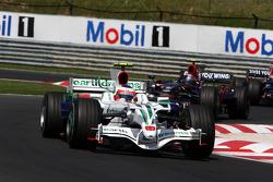 Rubens Barrichello, Honda Racing F1 Team, leads RA108, Sebastian Vettel, Scuderia Toro Rosso, STR03