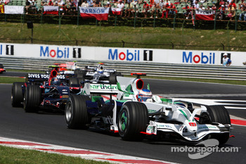 Jenson Button, Honda Racing F1 Team, RA108 leads Sebastian Vettel, Scuderia Toro Rosso, STR03
