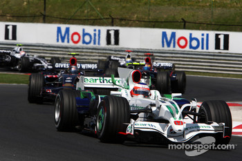 Rubens Barrichello, Honda Racing F1 Team, RA108 leads Sebastian Vettel, Scuderia Toro Rosso, STR03