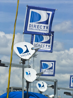 Direct TV signs in pitlane
