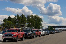 Toyota trucks for the drivers parade