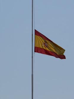 Spanish Flag at half mast after the Madrid plane crash