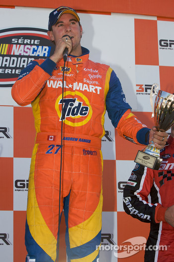 Podium: race winner Andrew Ranger