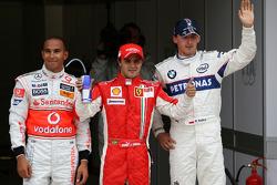 Lewis Hamilton, McLaren Mercedes, Felipe Massa, Scuderia Ferrari, Robert Kubica, BMW Sauber F1 Team