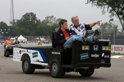 Track inspection: Marco Andretti
