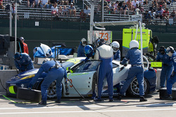 Pit stop for #73 Tafel Racing Ferrari F430 GT: Alex Figge, Jim Tafel