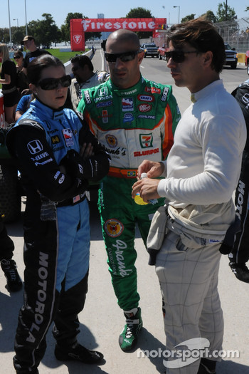 Danica Patrick, Tony Kanaan, and Oriol Servia
