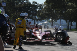 Justin Wilson in the pits