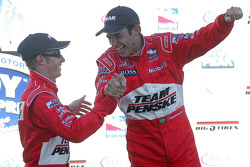 Podium: Helio Castroneves and Ryan Briscoe