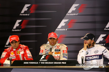 Post-race press conference: race winner Lewis Hamilton, second place Felipe Massa, third place Nick Heidfeld