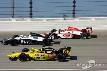 Sarah Fisher, Marco Andretti and Mario Moraes