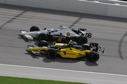 Tomas Scheckter and Graham Rahal run together